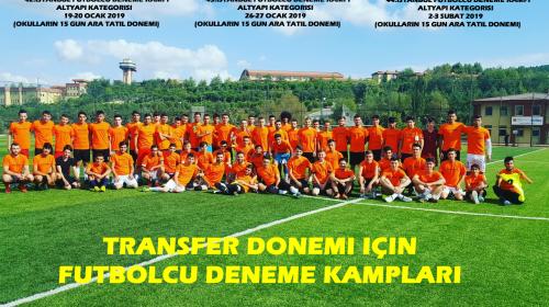 OCAK 2019 ARA TRANSFER DÖNEMİ KAMPLARI